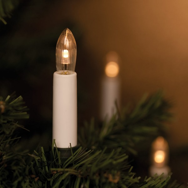 LED-Weihnachtsbaumkette, 10,5m, 16 klar/weiße LEDs, E10-10-55V-0,2W