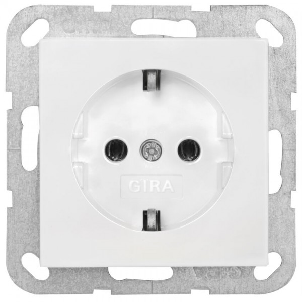 GIRA® - Kombi-Steckdose, SYSTEM 55, reinweiß glänzend - 018803
