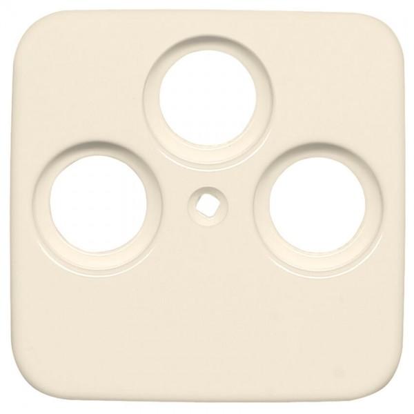 KLEIN®-SI - Zentralplatte für SAT-Antennensteckdose cremeweiß, 3-Loch