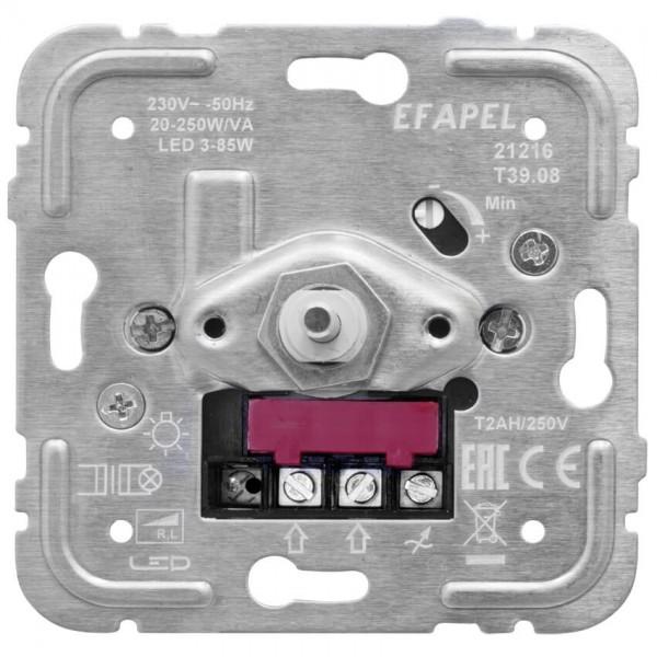 EFAPEL® - Druck-/Wechsel- Dimmereinsatz, 15-150W/VA, LED 3-50W, Lasttyp R,C