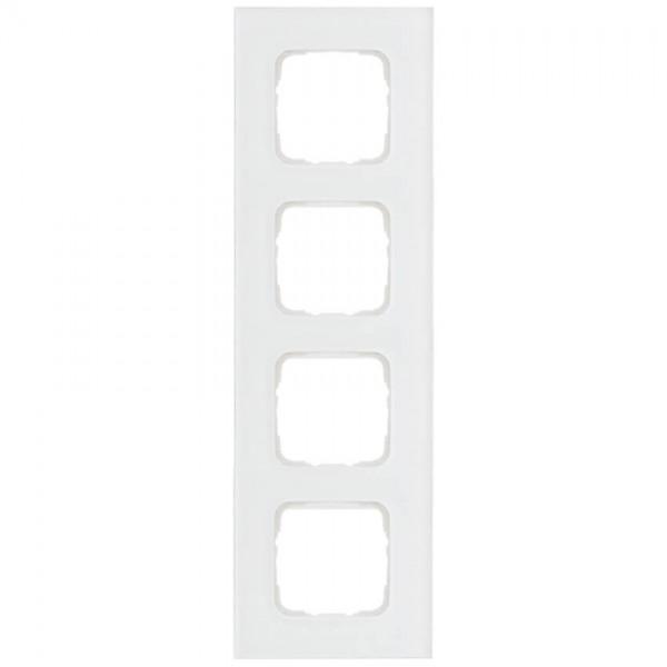 KLEIN®-SI - Abdeckrahmen Glas 4-fach weiß