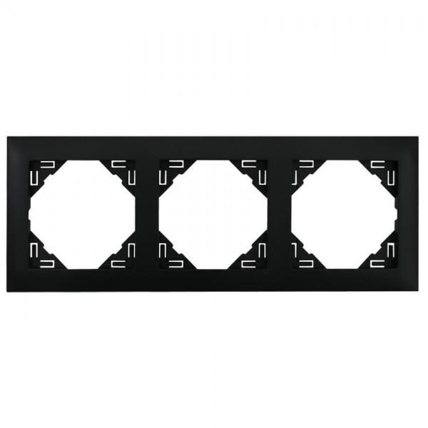 EFAPEL® - 3-fach Abdeckrahmen, LOGUS 90, schwarz matt