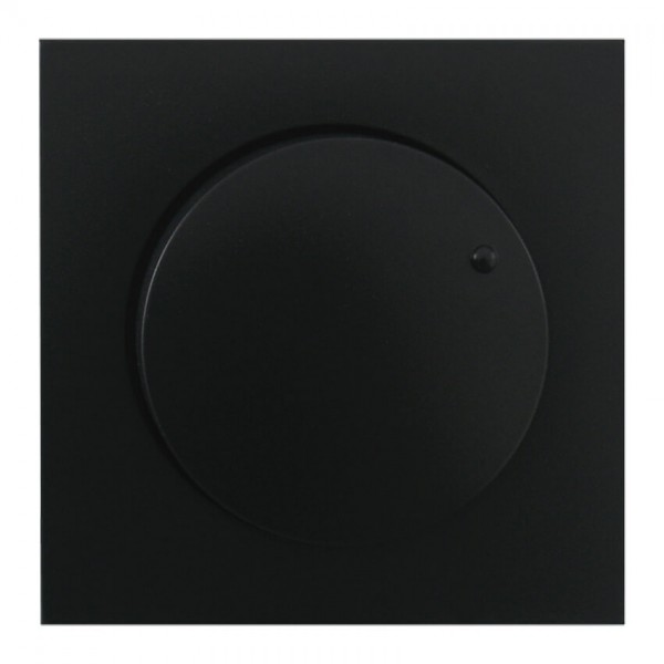 EFAPEL® - Abdeckung, für Dreh- und Druck-Dimmer, LOGUS 90, schwarz matt