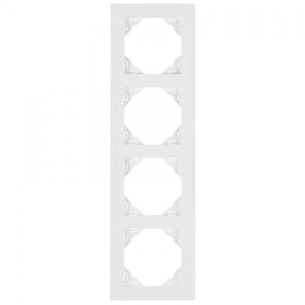 EFAPEL® - 4-fach Abdeckrahmen, LOGUS 90, signalweiß