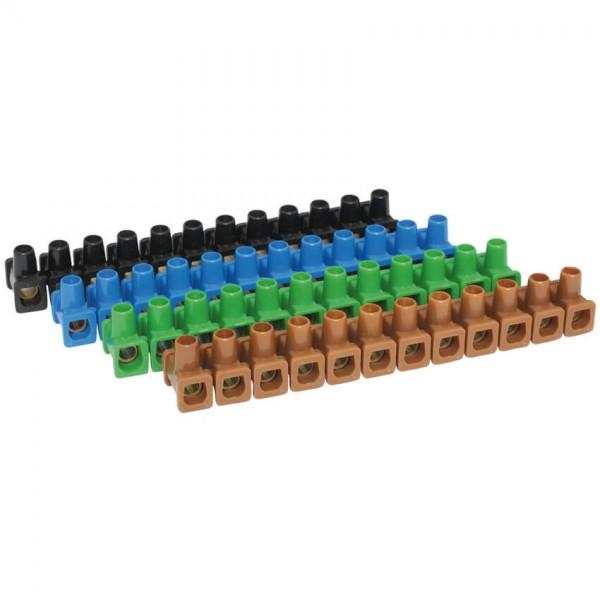 Dosenklemme, Kunststoff, 12-polig, 4 bis 6 mm ?, 10 Stangen