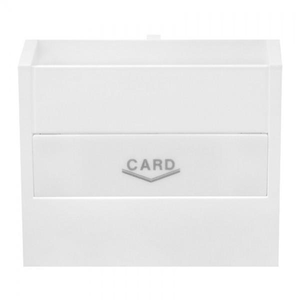 EFAPEL® - Zentralplatte für Hotelcard- Schaltereinsatz, LOGUS 90 signalweiß