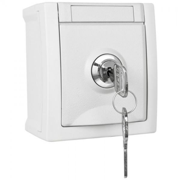 Panasonic® - AP/FR - PACIFIC - weiß - Steckdose, 1-fach, abschließbar, Schließung 3