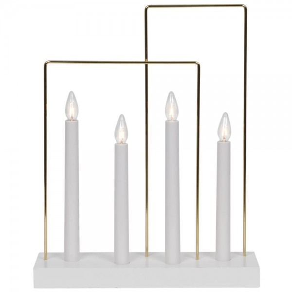 Weihnachtsleuchter, GLOSSY FRAME, 4 x E10/55V/3W