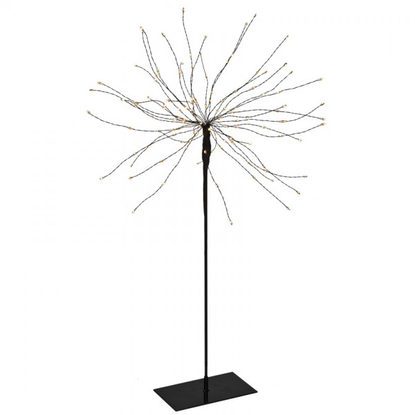 LED-Standstern, H 50cm, Ø 25cm, FIREWORK, warmweiße LEDs