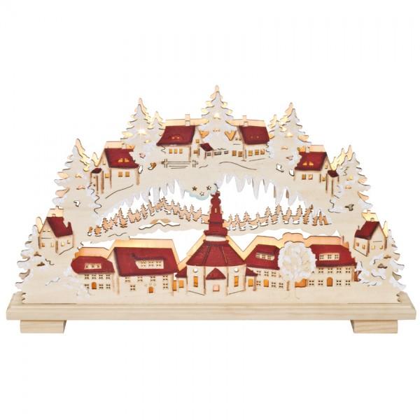 Weihnachtsleuchter, Seifener Dorf, 10 x E10/24V/3W