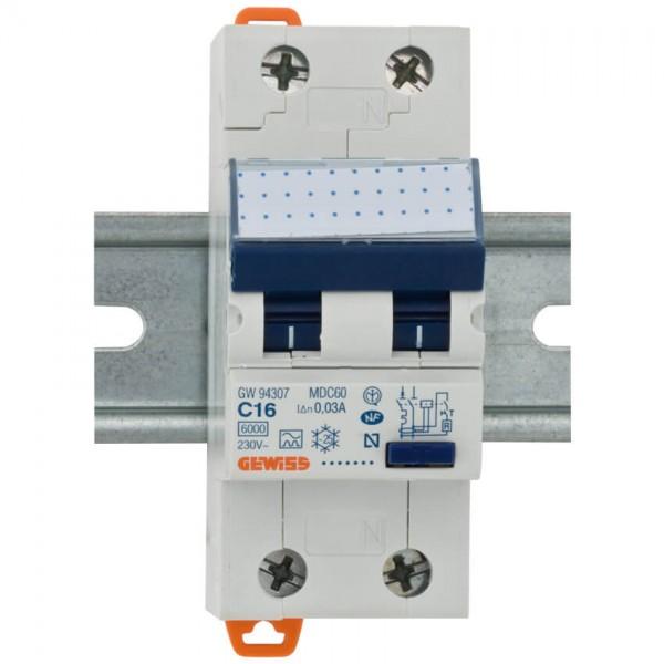 FI/LS-Schutzschalter, 2-polig, C-16A/0,03A,